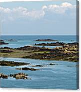Falling Tide Iles Chausey Canvas Print