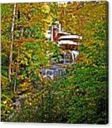 Falling Waters House Setting Canvas Print