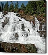 Falls Glen Alpine Falls Tahoe Canvas Print