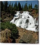Falls In Site Glen Alpine Falls Canvas Print