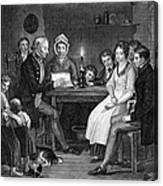 Family Reading, 1840 Canvas Print