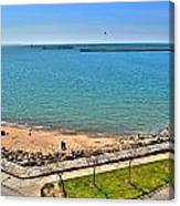 Family Time At The Erie Basin Marina Canvas Print