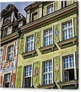 Fancy Facades - Posnan Poland Canvas Print