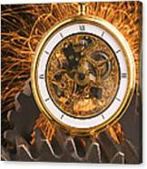 Fancy Pocketwatch On Gears Canvas Print