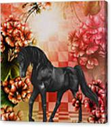 Fantasy Black Horse Canvas Print