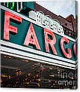 Fargo Theatre Sign In North Dakota Canvas Print