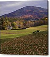 Farm By Ascutney Mountain Vermont Canvas Print
