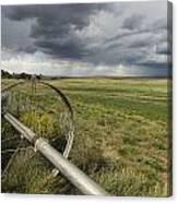 Farm Irrigation Sprinklers Next Canvas Print
