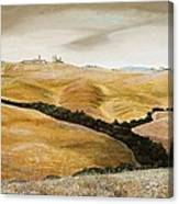 Farm On Hill - Tuscany Canvas Print