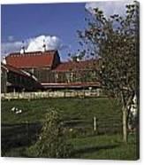 Farm Scene With Barn  Canvas Print