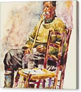 Farmer Coffee Time Canvas Print