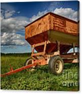 Farmer's Grain Wagon Canvas Print