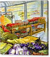 Farmer's Market In Fort Worth Texas Canvas Print