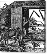 Farming: Threshing Canvas Print