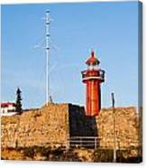 Farol Do Forte Sta. Catarina Canvas Print