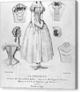 Fashion: Corset, C1850 Canvas Print
