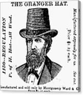 Fashion: Granger Hat Canvas Print