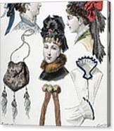 Fashion: Hats, C1875 Canvas Print