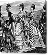Fashion: Womens, 1874 Canvas Print