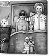 Fast Food Nightmare Bw Canvas Print