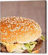 Fat Hamburger Sandwich Canvas Print