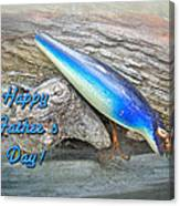 Fathers Day Greeting Card - Vintage Floyd Roman Nike Fishing Lure Canvas Print