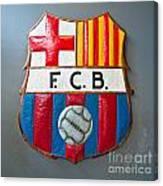 Fc Barcelona Symbol Canvas Print