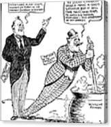 F.d. Roosevelt Cartoon Canvas Print