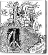 F.d.r. Cartoon, 1930s Canvas Print