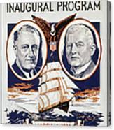 Fdr: Inauguration, 1933 Canvas Print