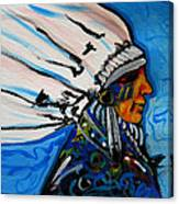 Feather Head Canvas Print