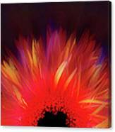Feathered Floral Canvas Print