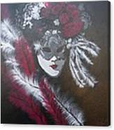 Feathered Rose Canvas Print