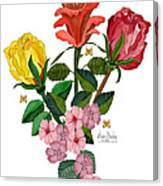 February 2012 Roses And Blooms Canvas Print