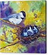 Feeding Chorus Canvas Print