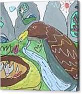 Feeding Canvas Print