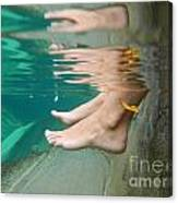 Feet Under The Water Canvas Print
