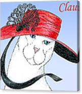Feline Finery - Claudia Canvas Print