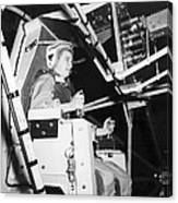 Female Astronaut Training Canvas Print