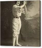 Female Baseball Player Canvas Print