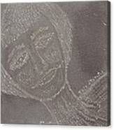 Female  Face  On  Steel  Two Canvas Print