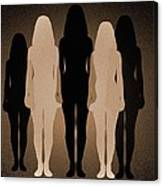 Female Identity, Conceptual Image Canvas Print