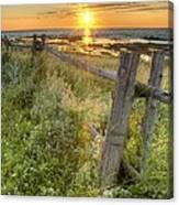 Fence Along The Shore Canvas Print