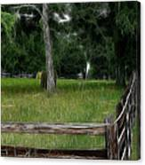 Fenced In Field Canvas Print