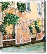 Fenetre Sur Canal Canvas Print