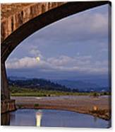 Fernbridge And The Moon Canvas Print