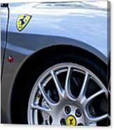Ferrari Wheel And Emblems Canvas Print