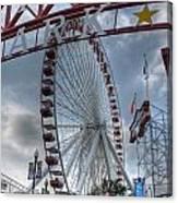Ferris Wheel At The Pier Canvas Print