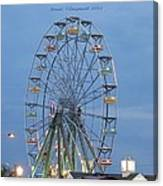 Ferris Wheel At Virginia Beach Canvas Print