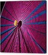 Ferris Wheel In Pink Canvas Print